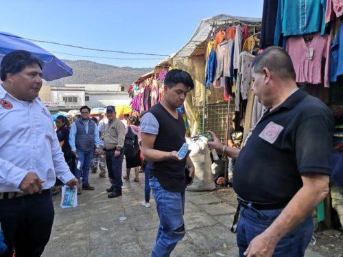 Mantiene Ayuntamiento de San Cristóbal filtros sanitarios en el primer cuadro de la ciudad